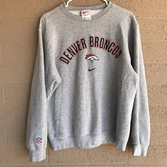 competitive price 28f25 6b136 Vintage Nike NFL Denver Broncos Sweatshirt Crew